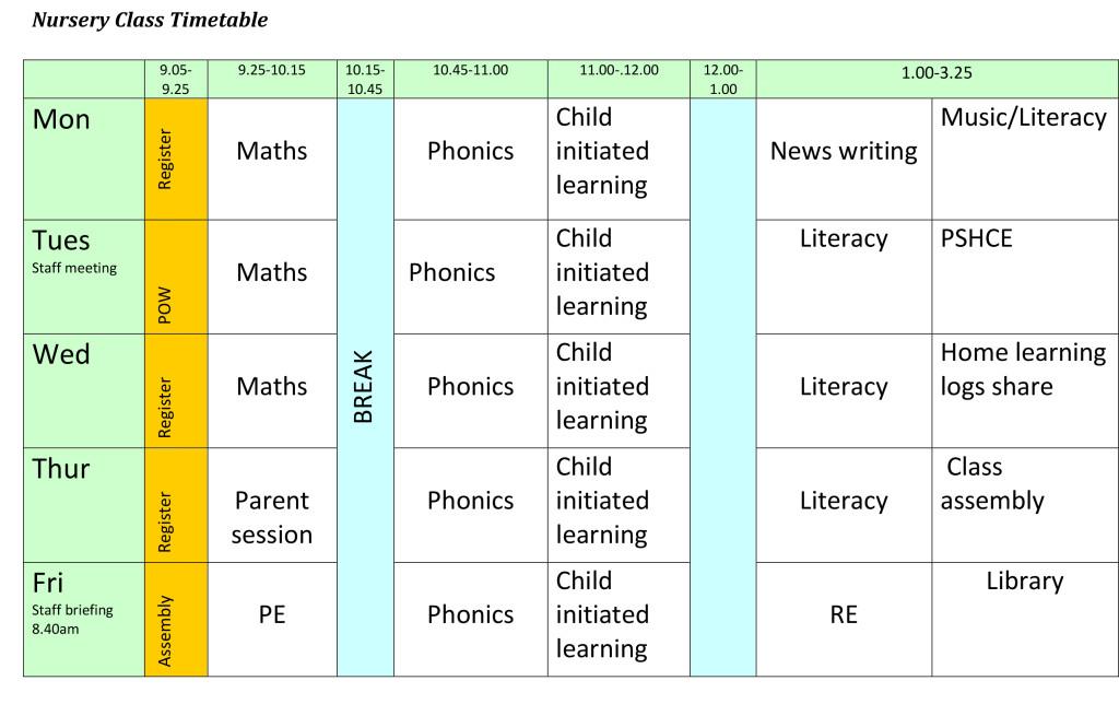nursery-timetable-2016-2017