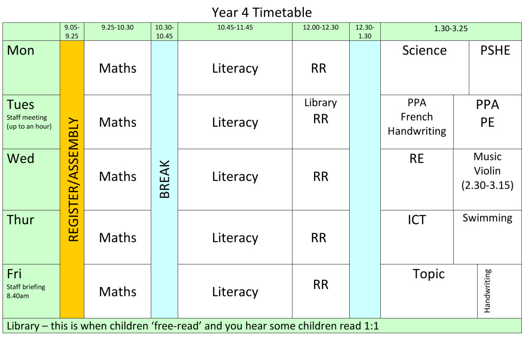 year-4-timetable-2016-2017